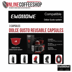 EMOHOME Refillable / Reusable Coffee Capsules/ Pods - 3 x Dolce Gusto Compatible